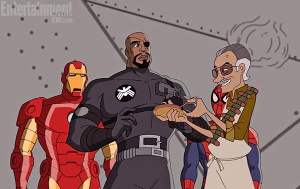 """Những phút """"bá đạo"""" của cha đẻ anh hùng Marvel trên màn ảnh 10"""