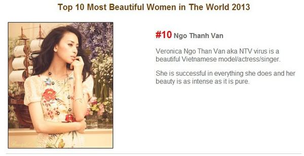 Ngô Thanh Vân đứng thứ 10 trong Top 50 Người phụ nữ đẹp nhất thế giới 2013 1