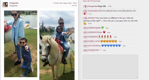 Tránh xa thị phi, Hồ Ngọc Hà dẫn Subeo đi cưỡi ngựa ở Đà Lạt 1