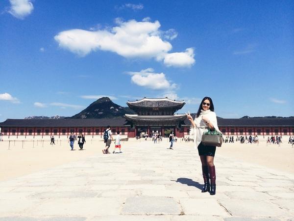 Thu Minh vui vẻ tận hưởng mùa thu Hàn Quốc 4