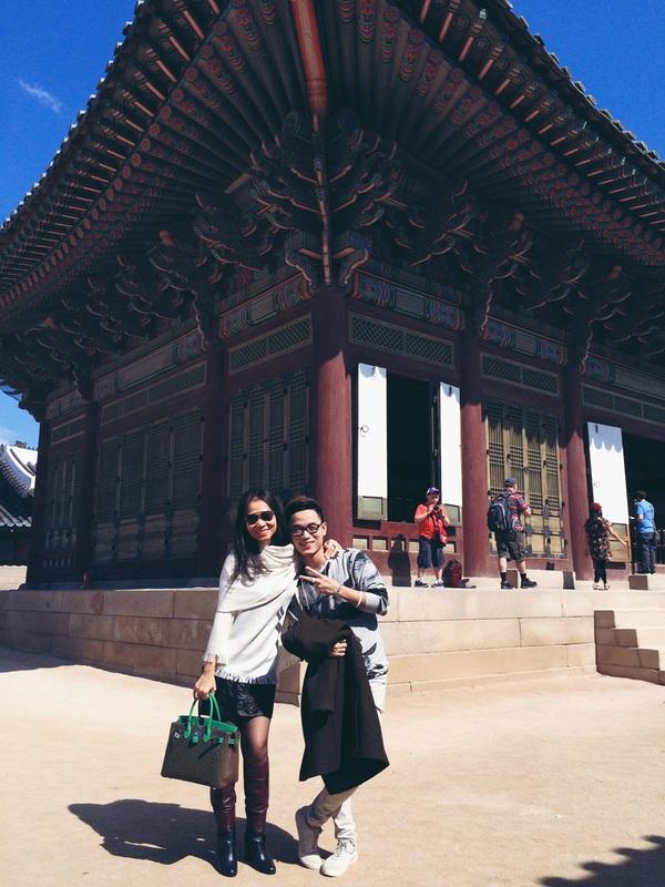 Thu Minh vui vẻ tận hưởng mùa thu Hàn Quốc 1