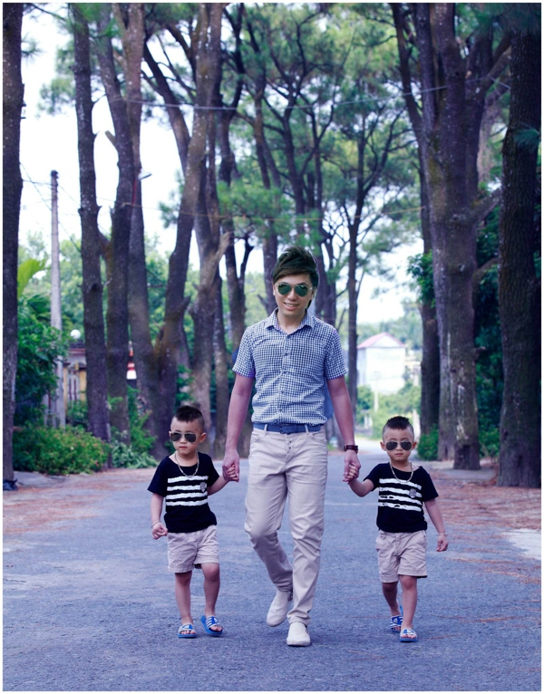 Minh Vương (M4U) khoe 2 con trai nuôi song sinh 4