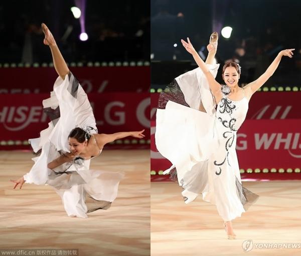 """""""Bông hoa thể dục xứ Hàn"""" gây bất ngờ tại sự kiện với phong cách sexy 2"""