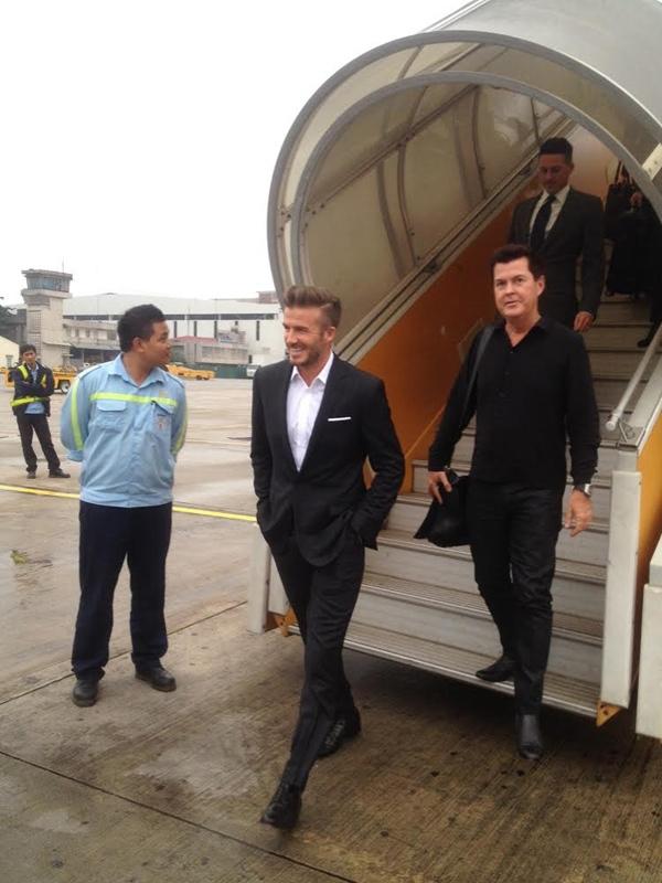 HOT: Hình ảnh đầu tiên của David Beckham tại Hà Nội 1