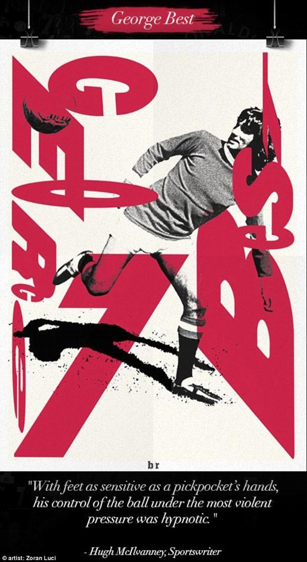 Chùm tranh đồ họa đặc biệt về các số 7 huyền thoại của Manchester United 2