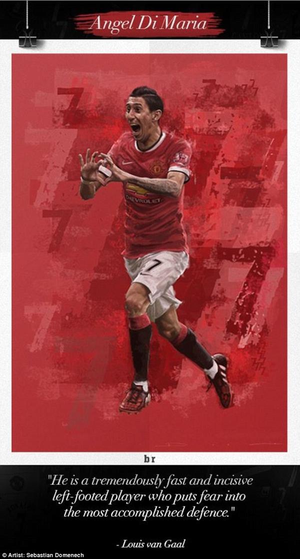 Chùm tranh đồ họa đặc biệt về các số 7 huyền thoại của Manchester United 12