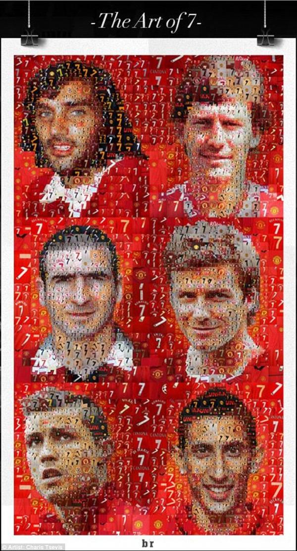 Chùm tranh đồ họa đặc biệt về các số 7 huyền thoại của Manchester United 1