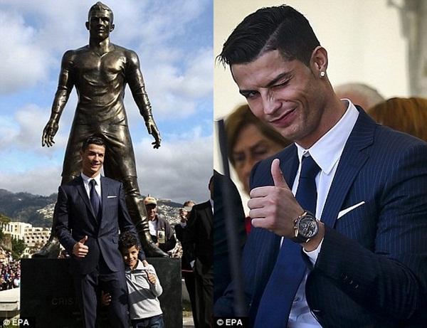 """Ronaldo tức tốc """"về quê"""" ra mắt tượng đồng CR7 khổng lồ 5"""