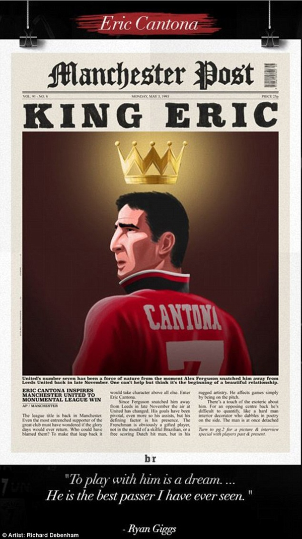 Chùm tranh đồ họa đặc biệt về các số 7 huyền thoại của Manchester United 6