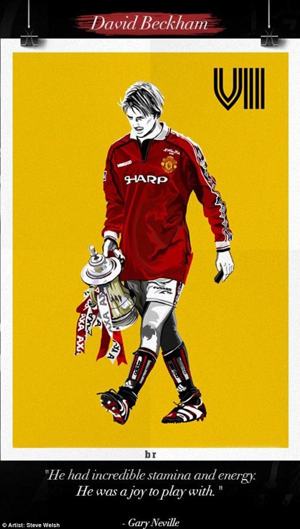 Chùm tranh đồ họa đặc biệt về các số 7 huyền thoại của Manchester United 8