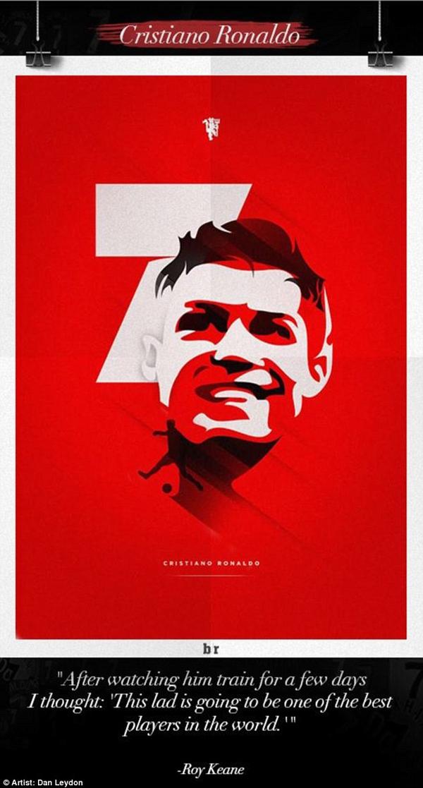 Chùm tranh đồ họa đặc biệt về các số 7 huyền thoại của Manchester United 10