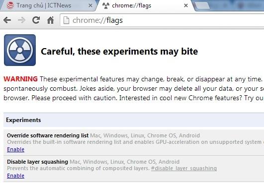 Cách sửa lỗi hiển thị sai tiếng Việt khi dùng Chrome 39 2