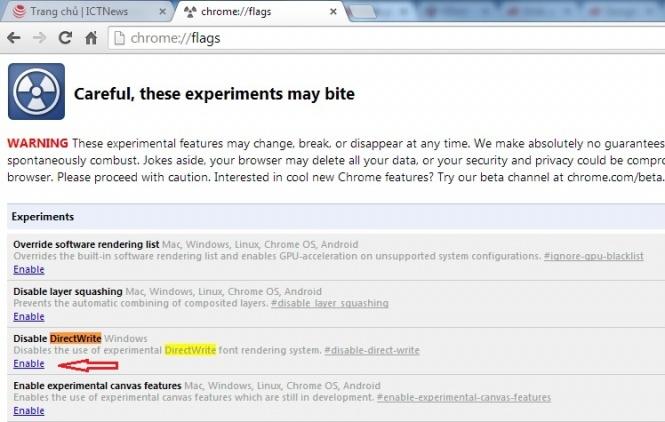 Cách sửa lỗi hiển thị sai tiếng Việt khi dùng Chrome 39 3