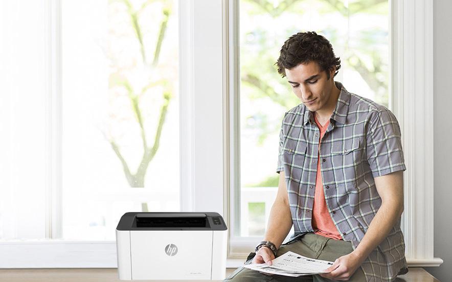 HP Laser 107a, in ấn tại nhà, chẳng cần đi xa