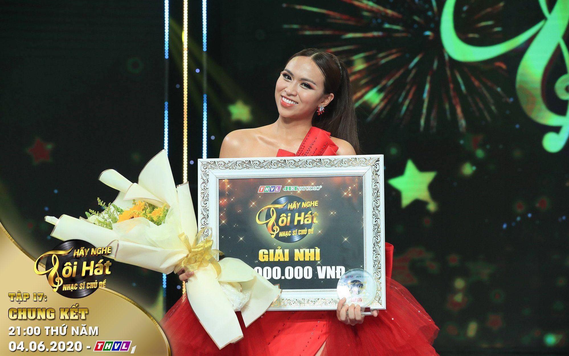 """Trương Diễm nhận thưởng đặc biệt với giải Á quân """"Hãy nghe tôi hát 2020"""""""