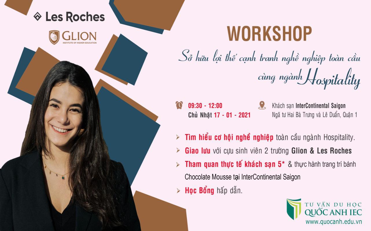 Workshop - Mở cánh cửa sự nghiệp quốc tế cùng ngành Hospitality