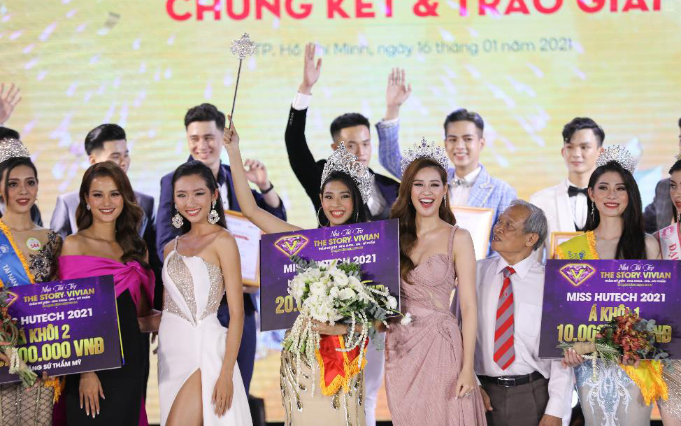 Dàn Hoa hậu, Á hậu đình đám hội ngộ tại Gala Chung kết Miss HUTECH 2021