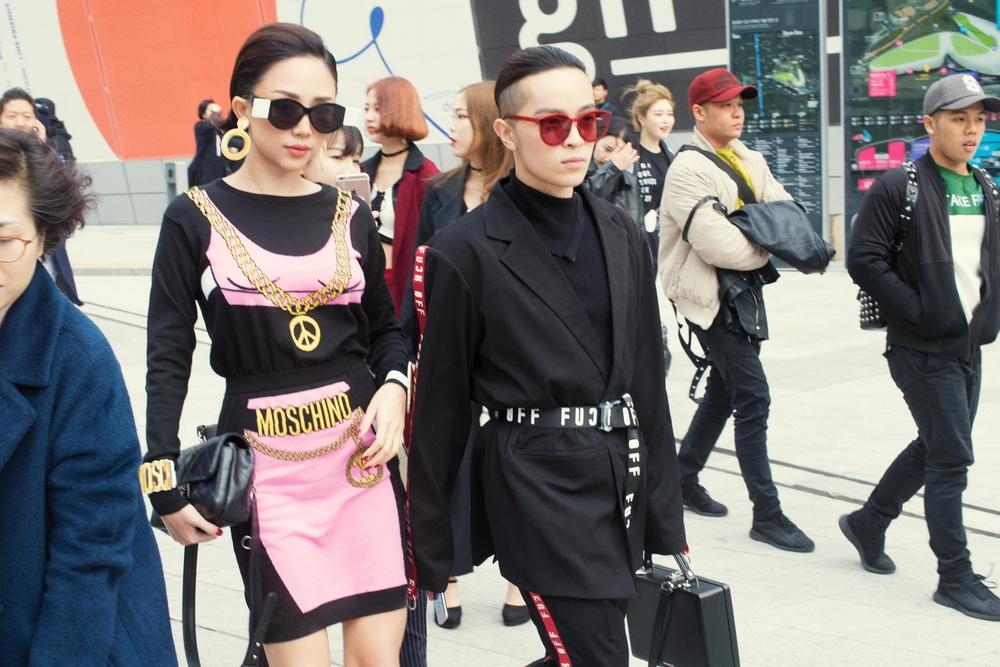 Tóc Tiên và Kelbin Lei xung trận Tuần lễ thời trang Seoul với phong cách chất lừ - Ảnh 3.