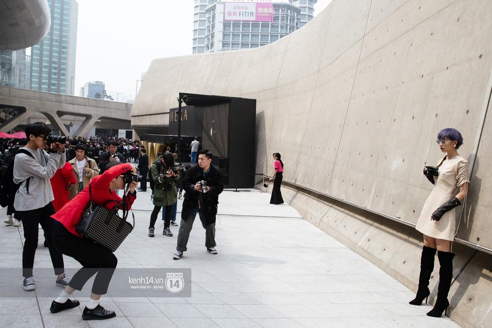 Seoul Fashion Week: Phí Phương Anh tóc tím nổi bần bật trên hàng ghế đầu cùng stylist Hoàng Ku - Ảnh 6.
