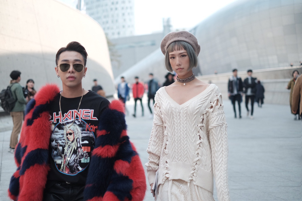 Seoul Fashion Week: Min xinh như gái Hàn, Hoàng Ku mặc áo lông 5kg giá 500 triệu ngồi ghế đầu xem show - Ảnh 3.