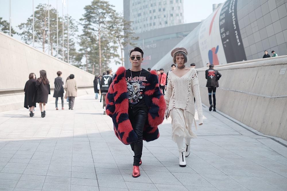 Seoul Fashion Week: Min xinh như gái Hàn, Hoàng Ku mặc áo lông 5kg giá 500 triệu ngồi ghế đầu xem show - Ảnh 2.