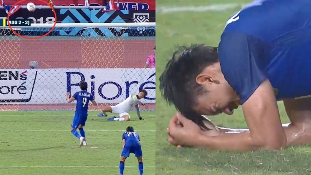 Cầu thủ Thái Lan suy sụp, đổ gục xuống sân sau thất bại đau đớn trước Malaysia - Ảnh 3.