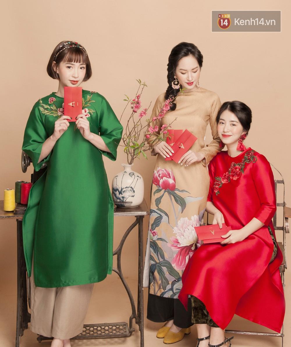 Tết này mặc áo dài: Sun HT, Mẫn Tiên, Lê Vi diện 15 mẫu áo dài cực xinh mà hẳn là bạn cũng đang cần tìm mua chúng - Ảnh 2.