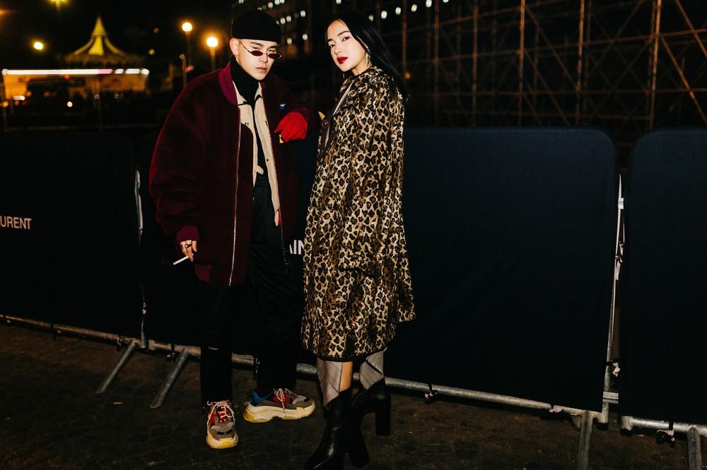 Châu Bùi - Decao tay trong tay vừa tình vừa chất đi dự show Saint Laurent tại Paris Fashion Week - Ảnh 1.