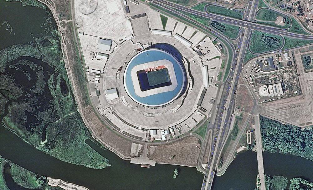 12 sân vận động phục vụ World Cup 2018 nhìn từ vệ tinh - Ảnh 3.