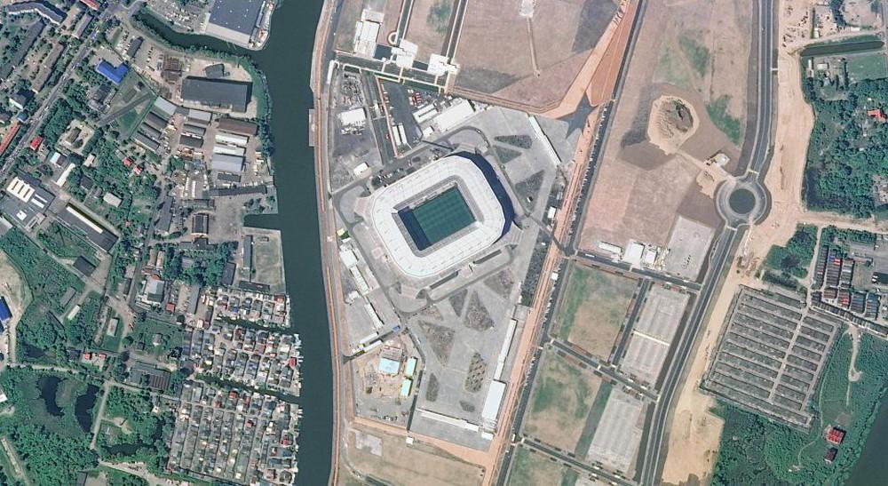 12 sân vận động phục vụ World Cup 2018 nhìn từ vệ tinh - Ảnh 2.
