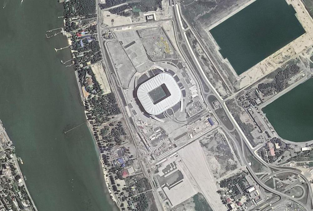 12 sân vận động phục vụ World Cup 2018 nhìn từ vệ tinh - Ảnh 12.