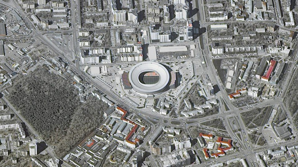 12 sân vận động phục vụ World Cup 2018 nhìn từ vệ tinh - Ảnh 10.