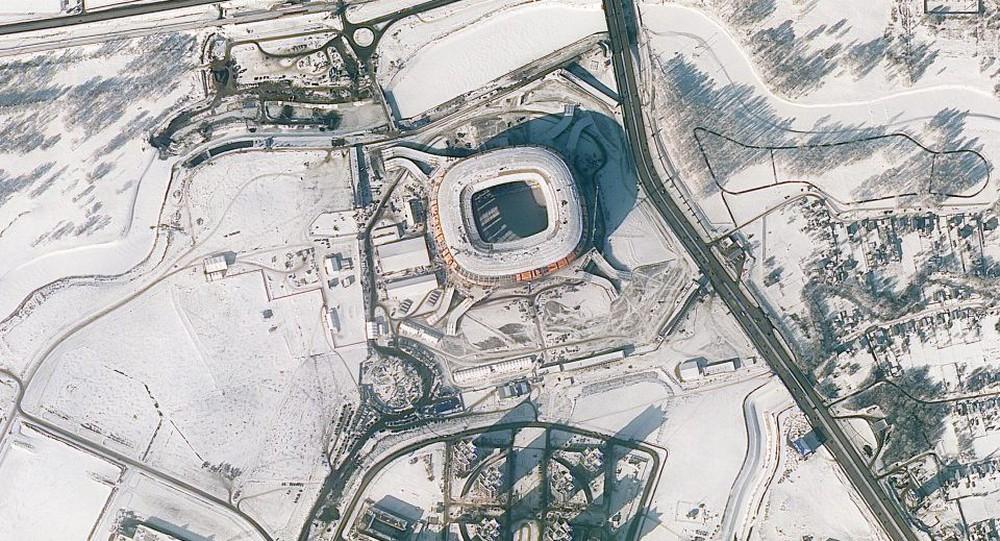 12 sân vận động phục vụ World Cup 2018 nhìn từ vệ tinh - Ảnh 8.