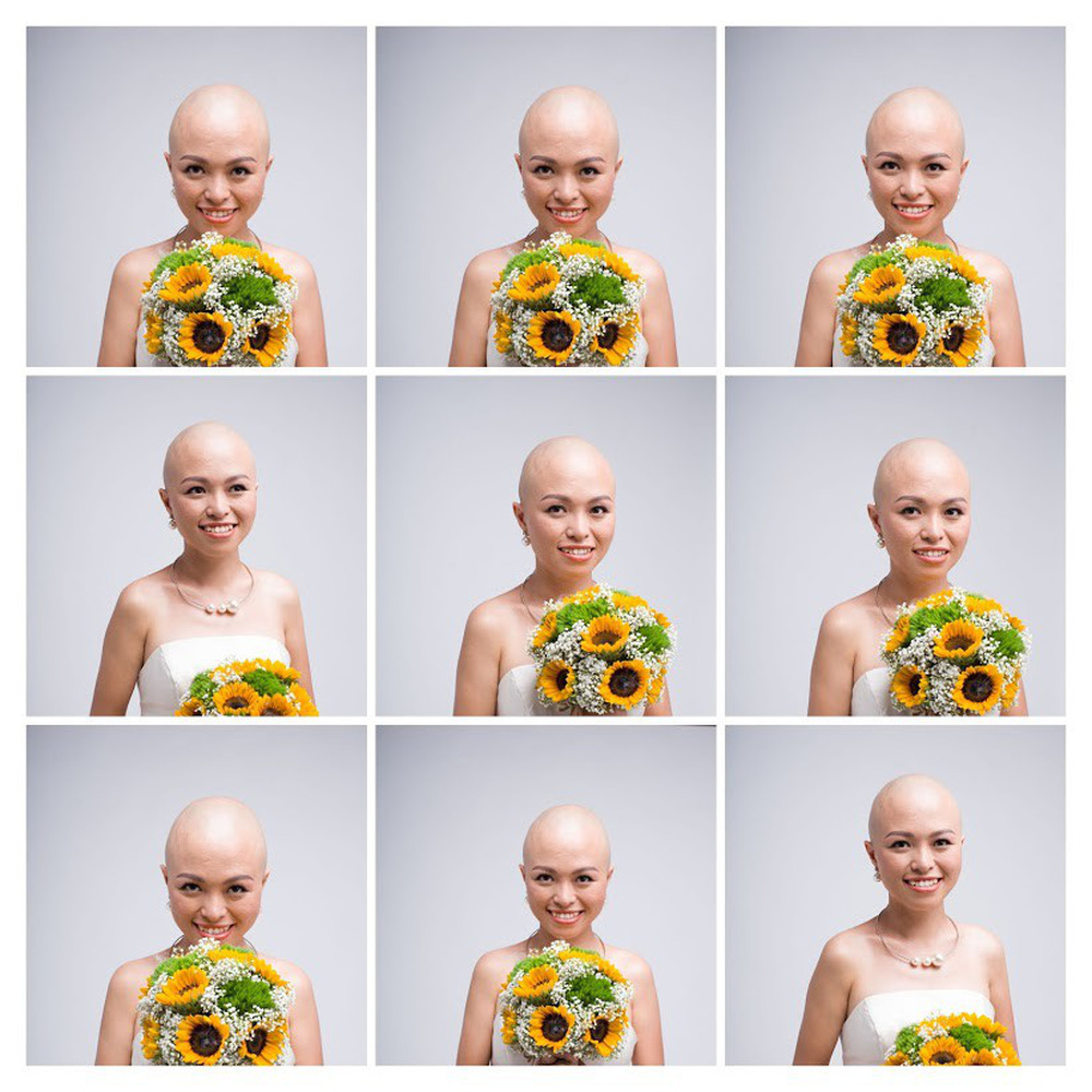 Thủy Muối trong bộ ảnh xúc động cùng nhạc sĩ Phạm Toàn Thắng và Vlogger JVevermind: Chẳng cần mái tóc, người phụ nữ sẽ luôn đẹp nhất - Ảnh 1.