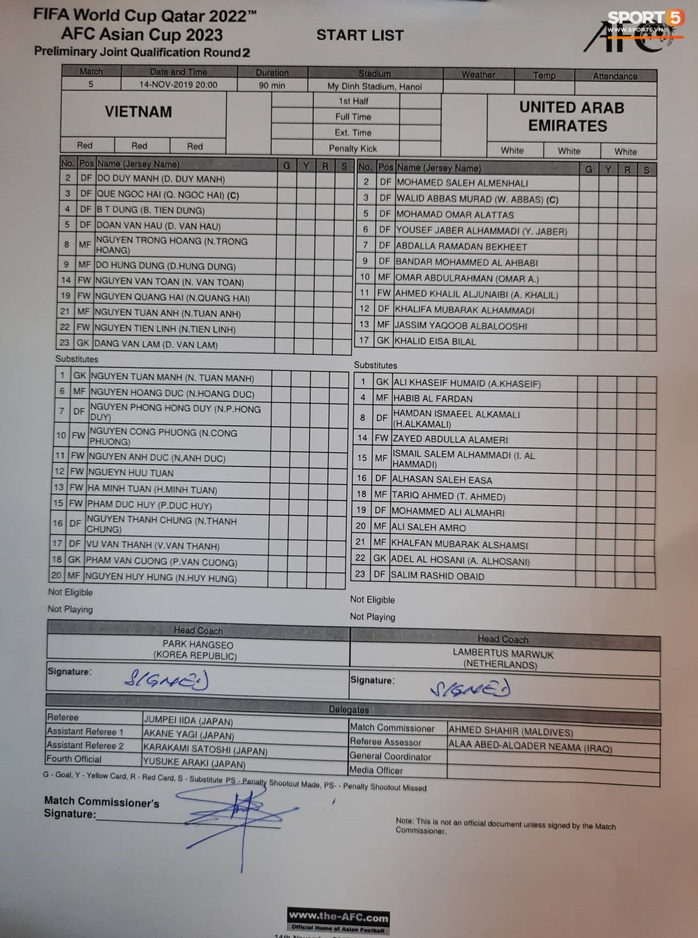 Tuyển thủ Việt Nam tráo số áo đấu UAE: Đó là sự tinh quái của thầy Park - Ảnh 11.