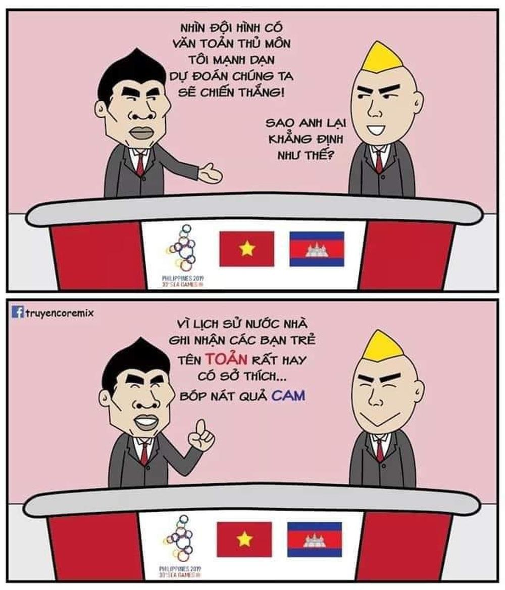 Cười bể bụng xem ảnh chế Đức Chinh nhấc bổng Campuchia - Ảnh 9.