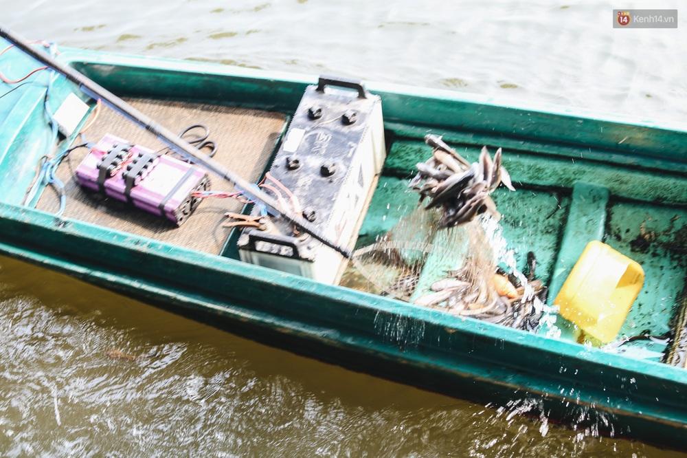 Ảnh: Chi 20 triệu mua cá chép rồi đi thuyền ra giữa sông để phóng sinh, người phụ nữ Sài Gòn vẫn choáng đặc khi thấy gã thanh niên lao theo chích điện để vớt cá - Ảnh 10.
