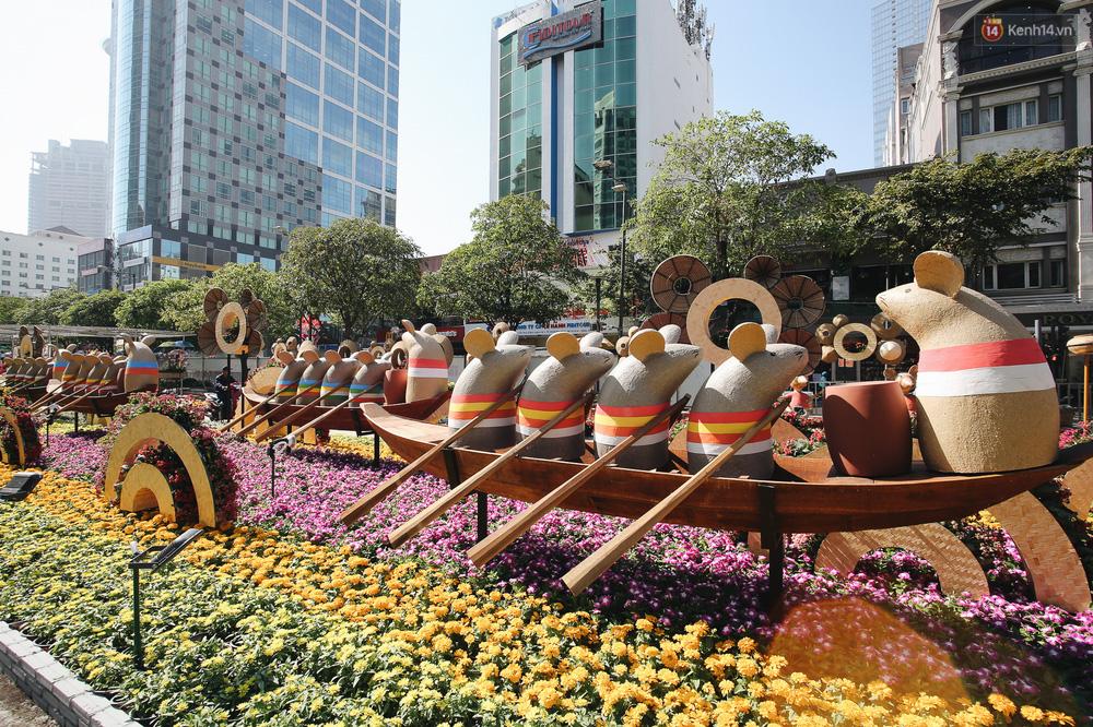 Cận cảnh đường hoa Nguyễn Huệ Tết Canh Tý 2020 khoe sắc rực rỡ trước ngày khai mạc - Ảnh 5.