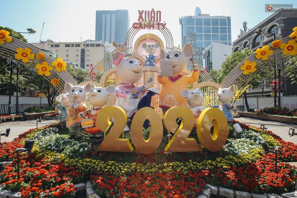 Cận cảnh đường hoa Nguyễn Huệ Tết Canh Tý 2020 khoe sắc rực rỡ trước ngày khai mạc - Ảnh 3.