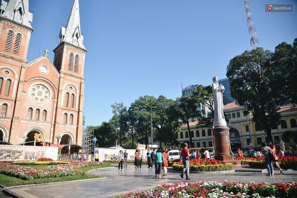 Ảnh: Sài Gòn bình yên trong nắng ban mai, đường phố vắng người qua lại sáng Mồng 1 Tết Canh Tý 2020 - Ảnh 11.