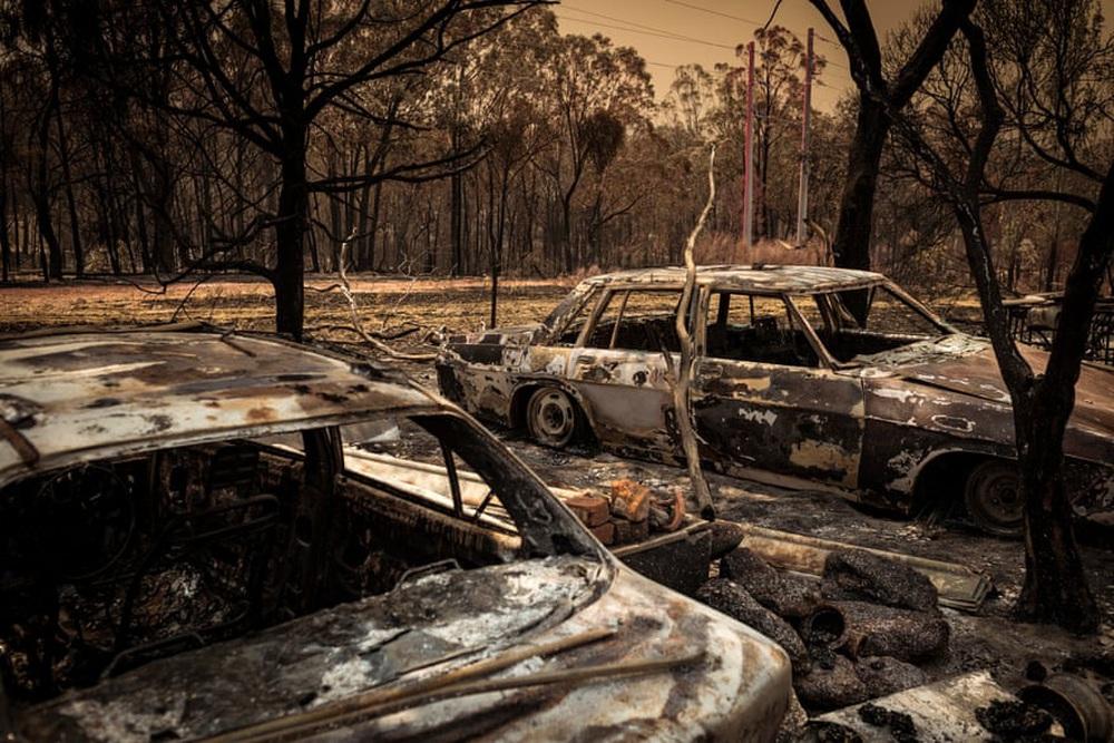 Một ngày cuối tuần chiến đấu với cháy rừng ở Úc: Khung cảnh hoang tàn trong lửa đỏ, cả con người và động vật đều phải xót xa đến rơi nước mắt - Ảnh 13.