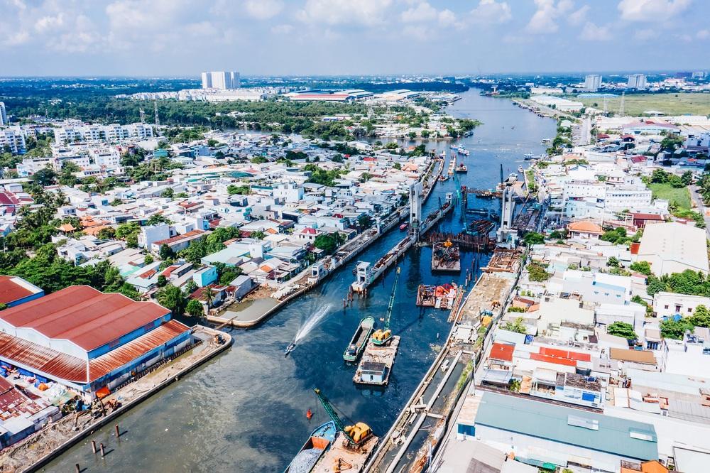 Toàn cảnh công trình chống ngập 10.000 tỷ đồng ở Sài Gòn đã hoàn thành hơn 90% - Ảnh 17.