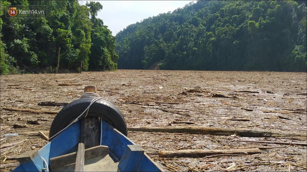 Ảnh: Bơi giữa biển rác trên sông để tìm các nạn nhân mất tích trong vụ lở núi khiến hàng chục người bị vùi lấp ở Trà Leng - Ảnh 4.