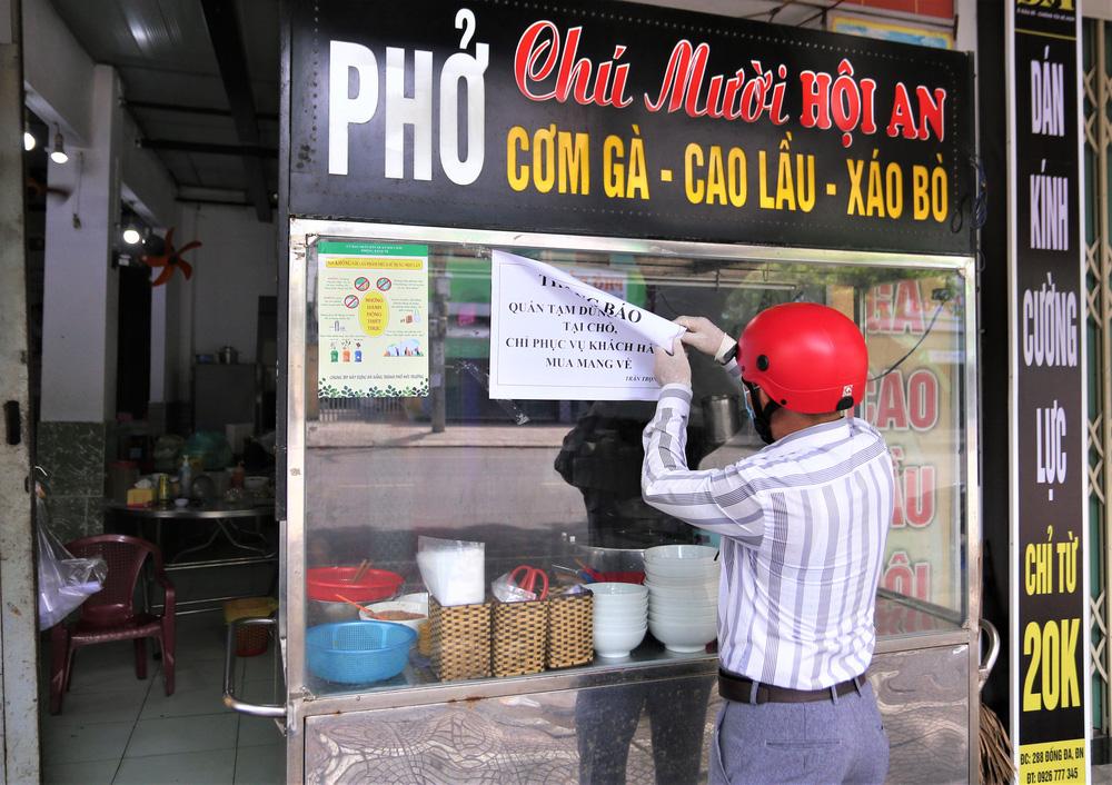Chùm ảnh: Tất cả hàng quán ở Đà Nẵng chính thức đóng cửa, ngưng cả bán mang về từ 13 giờ chiều nay - Ảnh 8.