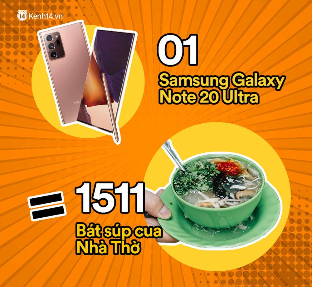 Một chiếc Samsung Galaxy Note20 Ultra vừa ra mắt sẽ đổi được bao nhiêu cốc trà sữa, bao nhiêu bịch bánh tráng trộn? - Ảnh 10.