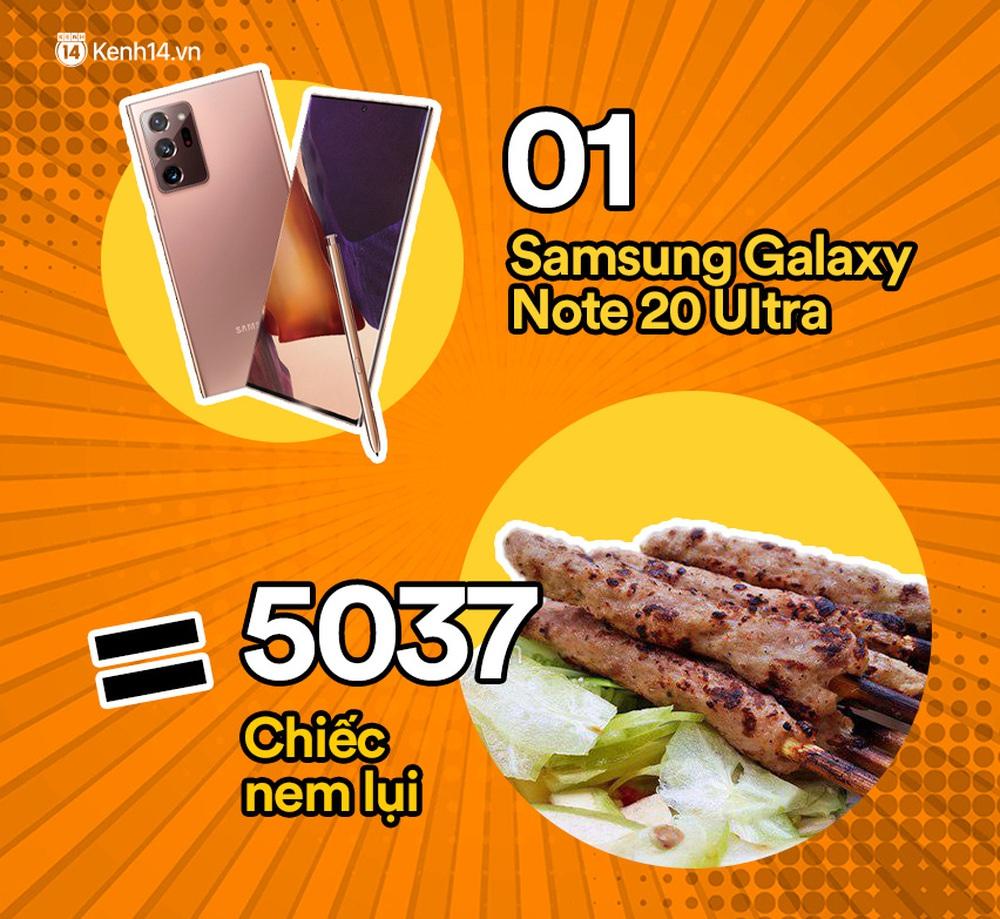 Một chiếc Samsung Galaxy Note20 Ultra vừa ra mắt sẽ đổi được bao nhiêu cốc trà sữa, bao nhiêu bịch bánh tráng trộn? - Ảnh 4.