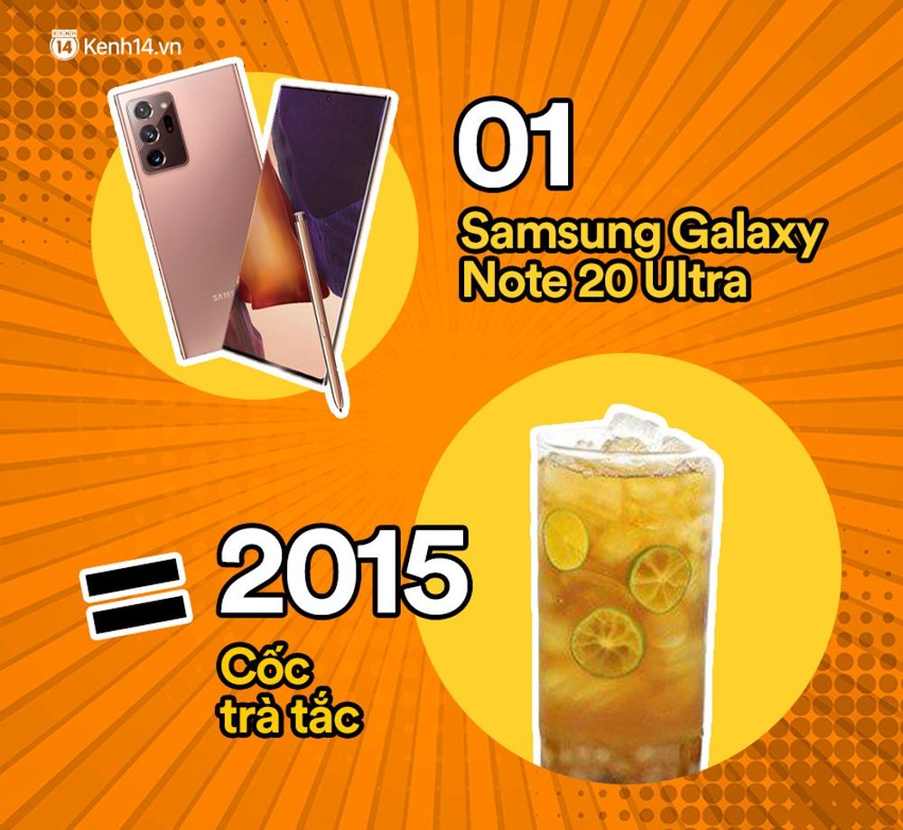 Một chiếc Samsung Galaxy Note20 Ultra vừa ra mắt sẽ đổi được bao nhiêu cốc trà sữa, bao nhiêu bịch bánh tráng trộn? - Ảnh 5.