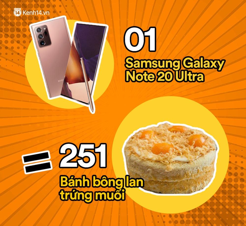 Một chiếc Samsung Galaxy Note20 Ultra vừa ra mắt sẽ đổi được bao nhiêu cốc trà sữa, bao nhiêu bịch bánh tráng trộn? - Ảnh 6.