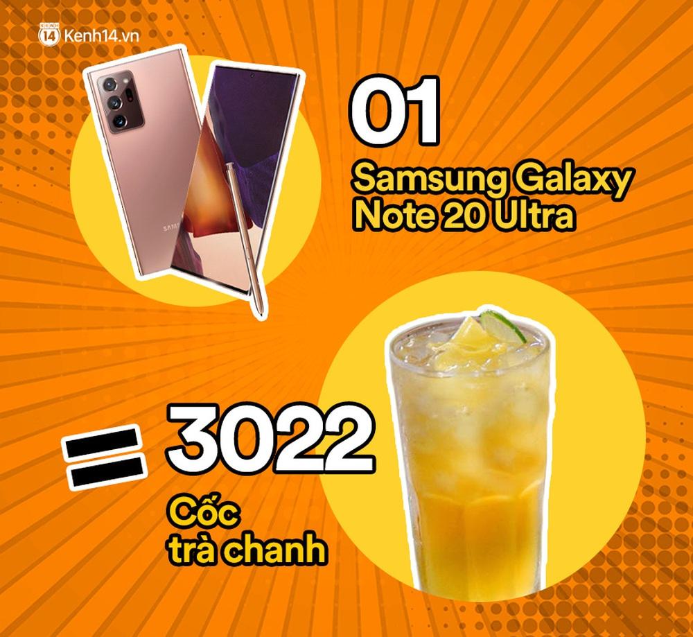 Một chiếc Samsung Galaxy Note20 Ultra vừa ra mắt sẽ đổi được bao nhiêu cốc trà sữa, bao nhiêu bịch bánh tráng trộn? - Ảnh 7.