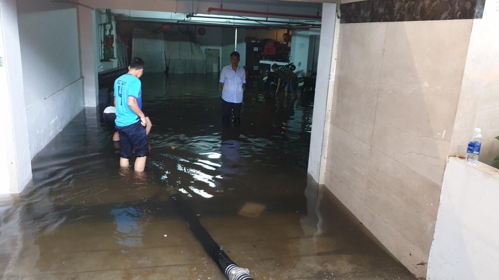 Đà Nẵng trong bão số 5: Mưa to kèm sấm chớp, nhiều tuyến đường ngập nước, cây đổ, cột điện gãy - Ảnh 10.